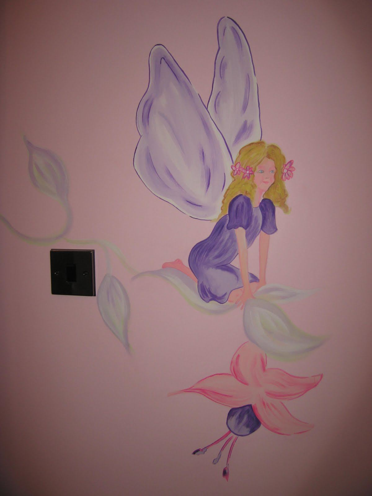 Childrens wall murals the muralist kids custom art for Fairies wall mural