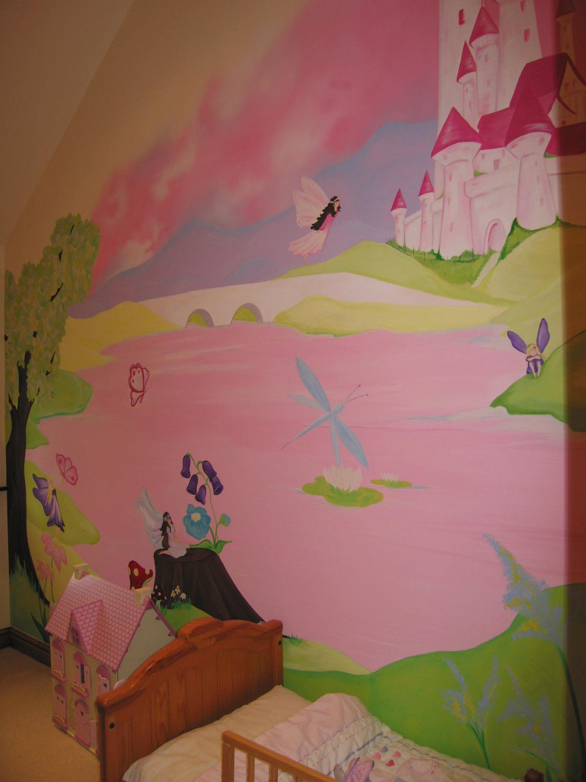 Childrens wall murals the muralist kids custom art for Fairy wall mural