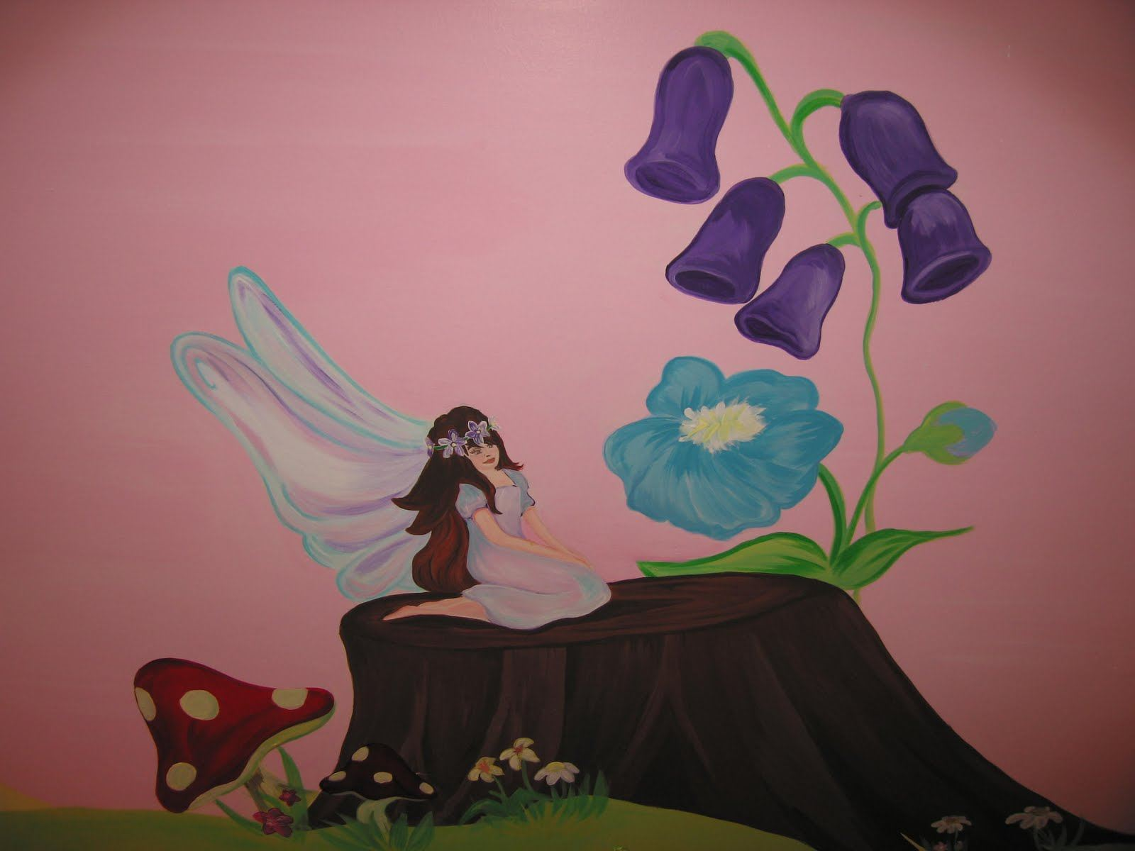 Childrens wall murals the muralist kids custom art for Fairy castle mural