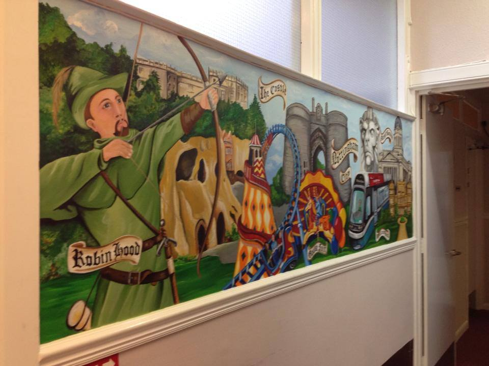 Commercial wall murals the muralist business shop for Commercial mural painting